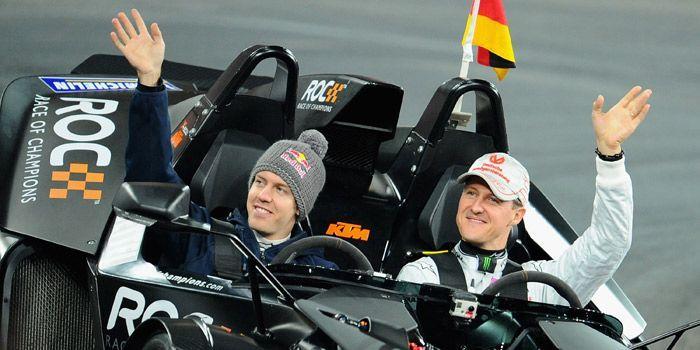 Sebastian Vettel, Michael Schumacher, Race of Champions - Bildquelle: Getty