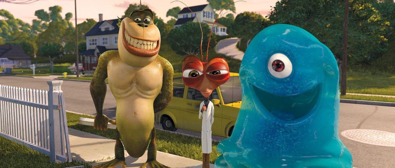Haben eine ganz besondere Aufgabe zu erledigen: B.O.B. (l.), Missing Link (r.) und Dr. Kakerlake (M.) ... - Bildquelle: TM and   2008 by DreamWorks Animation LLC. All rights reserved.