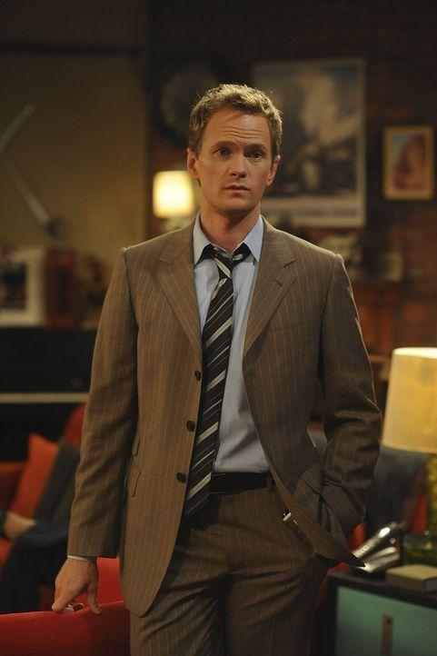 Kommt nicht damit klar, dass Ted und Robin Sex miteinander haben: Barney (Neil Patrick Harris) ... - Bildquelle: 20th Century Fox International Television