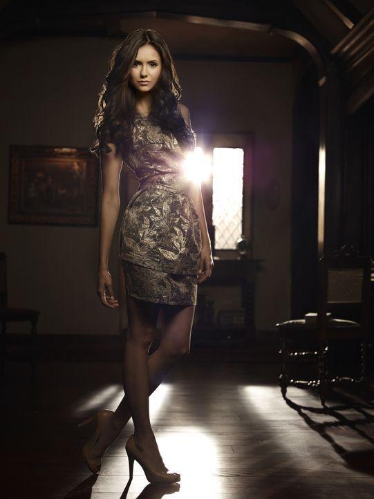 (2. Staffel) - Wird von ihrer böswilligen Doppelgängerin Katherine bedroht: Elena (Nina Dobrev)... - Bildquelle: Warner Brothers