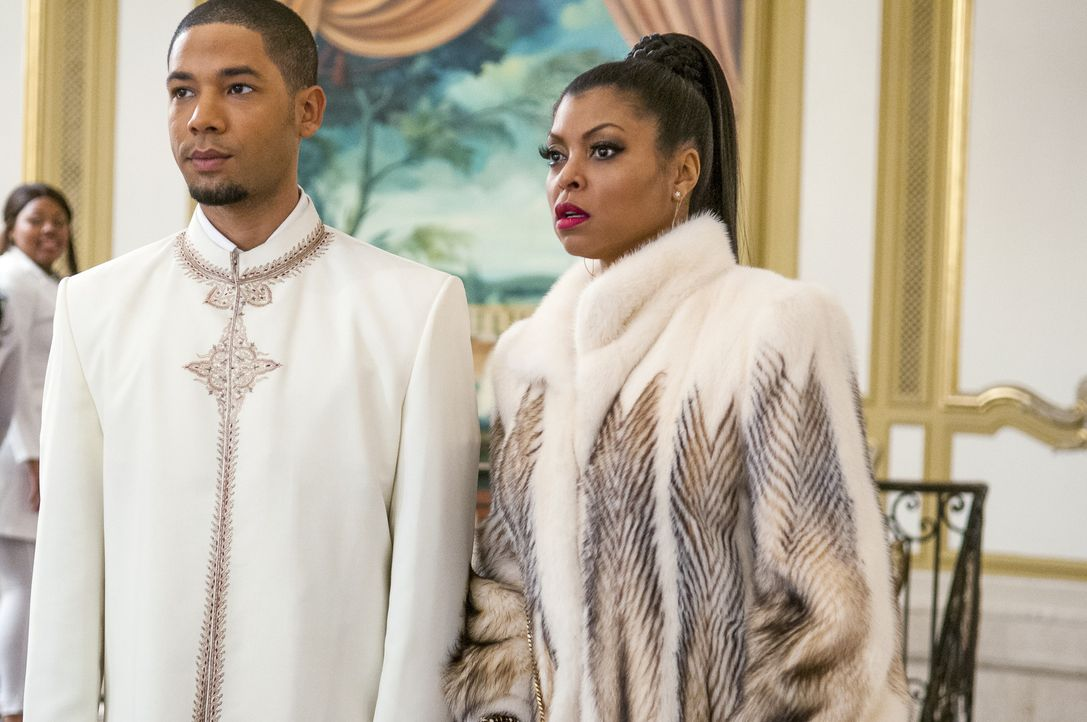 Die White Party steht an. Jamal (Jussie Smollett, l.) erfährt von seiner Mutter Cookie (Taraji P. Henson) kurz davor, dass sie seinen Part beim Fami... - Bildquelle: 2015 Fox and its related entities.  All rights reserved.