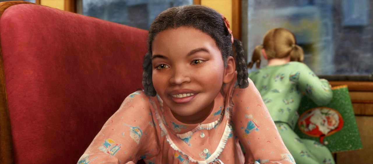 Das kleine mutige Mädchen freundet sich sofort mit neu zugestiegenen Jungen an, der immer noch nicht glauben kann, dass die Reise wirklich an den No... - Bildquelle: Warner Bros. Pictures