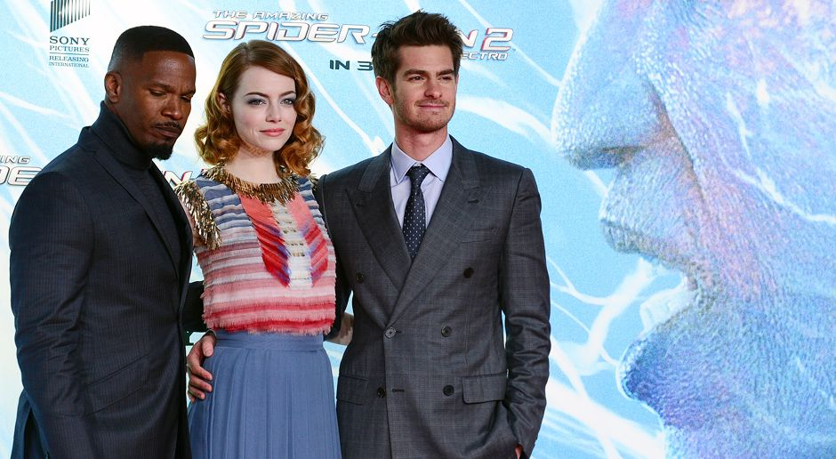 spiderman2-premiere-berlin-Foxx-Stone-Garfield-140415-2-AFP-HERO - Bildquelle: AFP