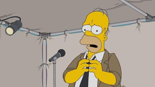Homer muss, wie alle Jahre, bei der Fortbildung im Kernkraftwerk eine Rede ha...