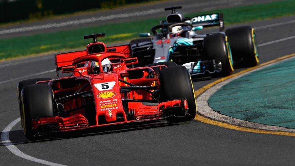 Formel 1 Sebastian Vettel Gewinnt Im Ferrari Auftakt In Australien