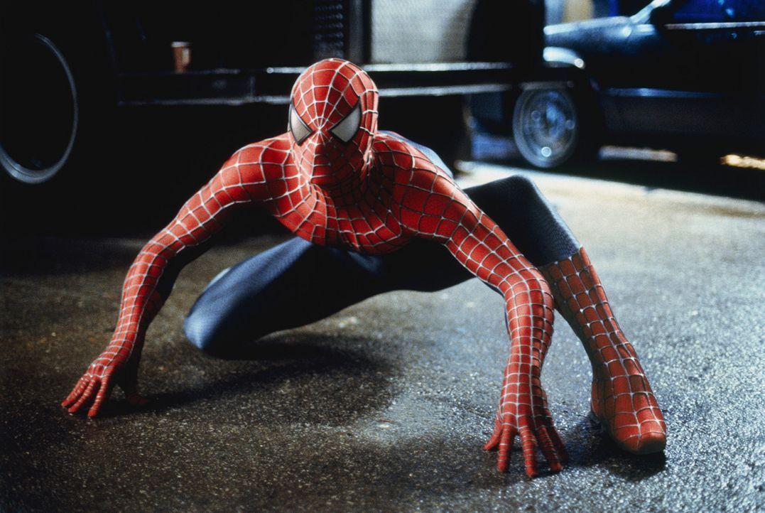 Als Spider-Man widmet Peter Parker (Tobey Maguire) sein Leben dem Kampf gegen das Verbrechen. Er ahnt nicht, dass sein schrecklichster Gegner direkt... - Bildquelle: 2003 Sony Pictures Television International