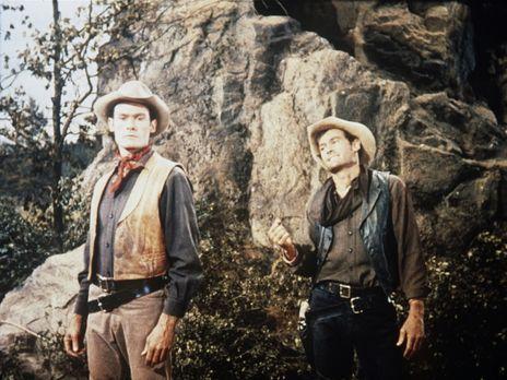 Bonanza - Jud Lolly (Ron Hayes, r.), der sehr geschätzte Vorarbeiter der Pond...
