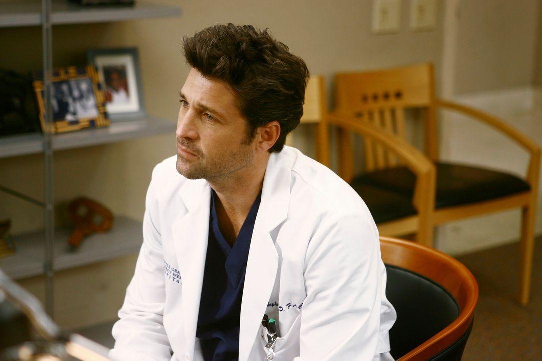Derek (Patrick Dempsey) konfrontiert Richard mit seinem Alkoholproblem, während Izzie wieder zurückkehrt und versuchen will, die Dinge mit Alex zu k... - Bildquelle: Touchstone Television