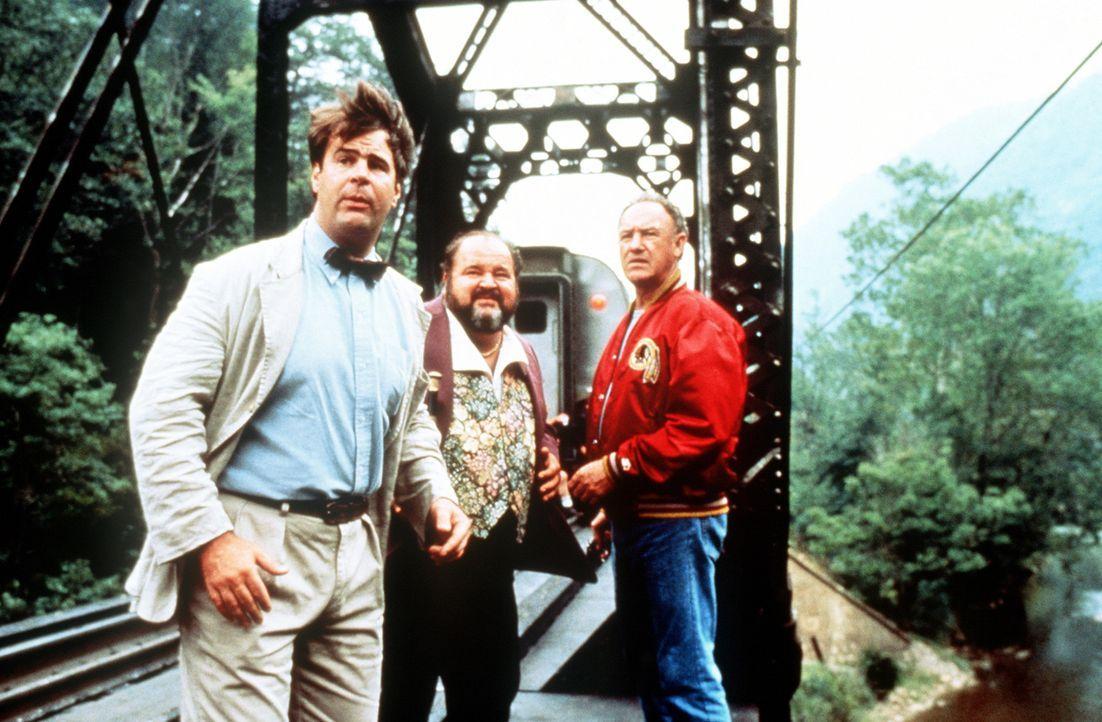 Bei ihren Ermittlungen in einer mysteriösen Mordserie stoßen Mac (Gene Hackman, r. ) und Ellis (Dan Aykroyd, l.) auf den dubiosen Gutterman (Dom D... - Bildquelle: TriStar Pictures