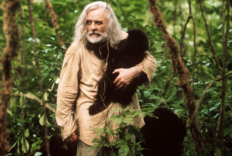 Der geniale Anthropologe Dr. Ethan Powell (Anthony Hopkins) widmet sich im afrikanischen Dschungel dem Leben der Berggorillas. Doch als ein paar Mä... - Bildquelle: Spyglass Entertainment Group.