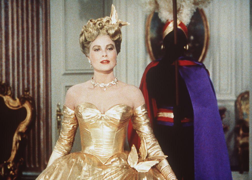Amüsieren sich auf einem Maskenball: Frances Stevens (Grace Kelly, l.) und H. H. Hughson (John Williams, r.) - Bildquelle: Paramount Pictures