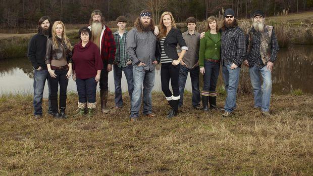 Familien-Power: Jep (Jep Robertson, l.), Jessica (Jessica Robertson, 2.v.l.),...