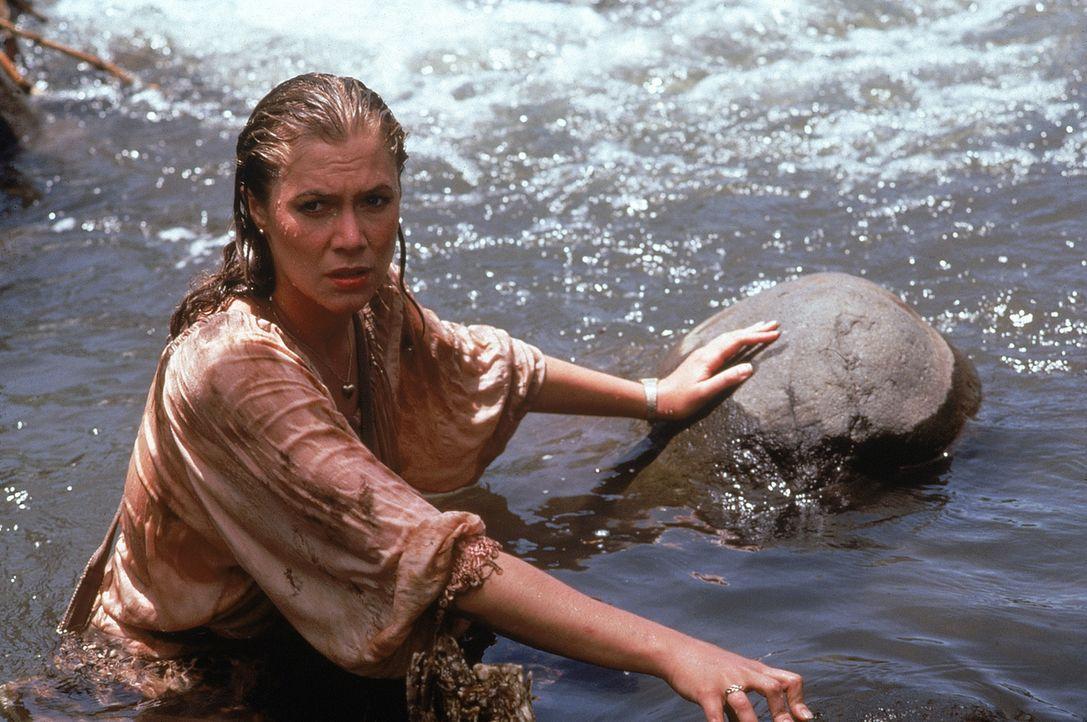 Joan (Kathleen Turner) ist im Besitz einer wertvollen Schatzkarte und begibt sich schließlich sogar selbst auf die Suche nach dem Schatz ... - Bildquelle: 1984 Twentieth Century Fox Film Corporation.  All rights reserved.