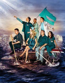 Scrubs - Die Anfänger - (8. Staffel) - Auf zu neuen Ufern: (v. oben l. n. unt...