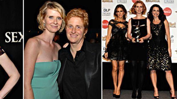 Doppeltes Mutterglück: Cynthia Nixon und ihre Verlobte Christine Marinoni sin...
