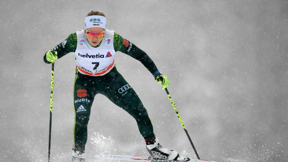 Ringwald (Bild) ist Kolb im Teamsprint-Finale - Bildquelle: AFPSIDFabrice COFFRINI
