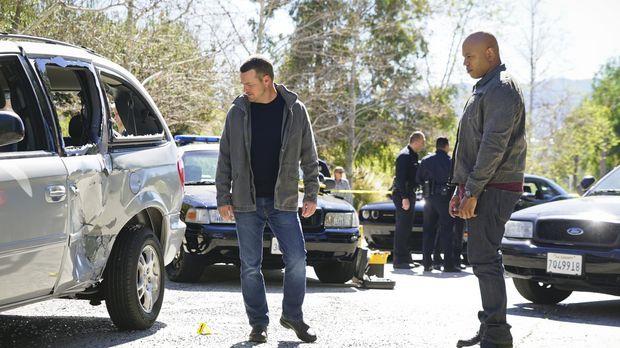 Bei den Ermittlungen in einem neuen Fall machen Callen (Chris O'Donnell, l.)...