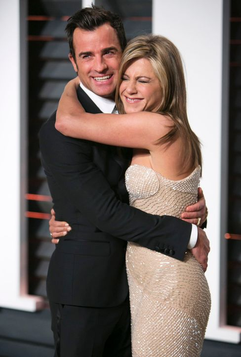 Oscars-Vanity-Fair-Party-Jennifer-Aniston-Justin-Theroux-150222-AFP - Bildquelle: AFP