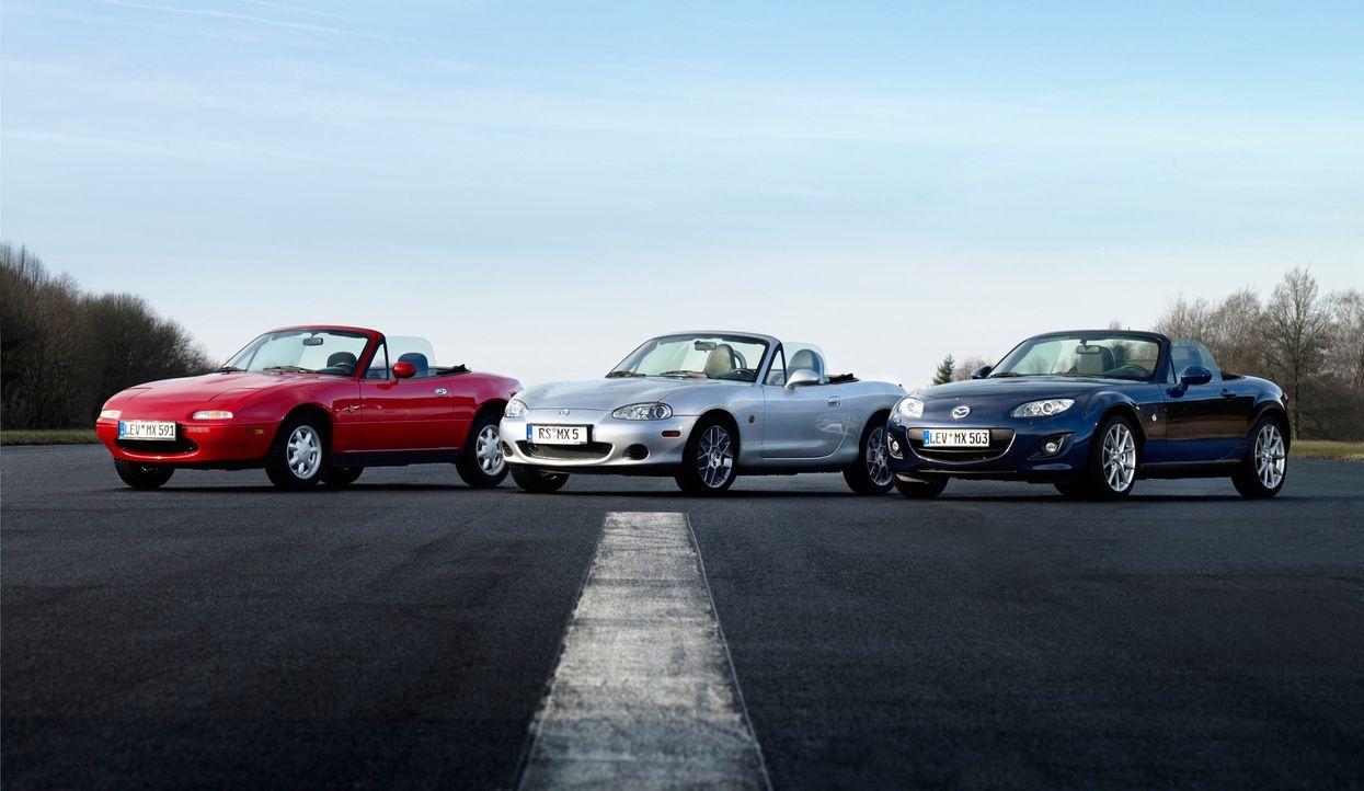 Mazda MX5 3 Generationen (5) - Bildquelle: Hildebrandt/Lorenz
