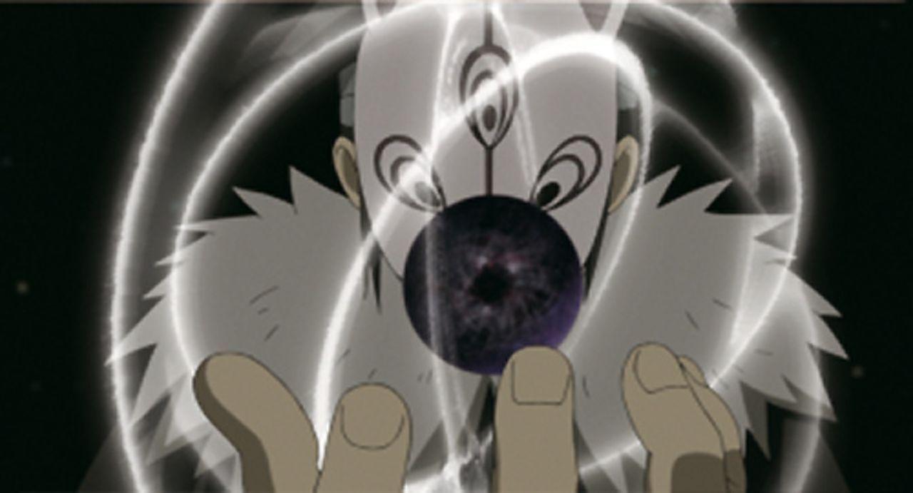 Nachdem Tobi (Bild) Naruto und Sakuro in eine Tsukuyomi-Welt gebracht hat, will er dort ihre Handlungen blockieren - denn in diesem Paralleluniversu... - Bildquelle: 2002 MASASHI KISHIMOTO /2007 Shippuden   NMP 2012