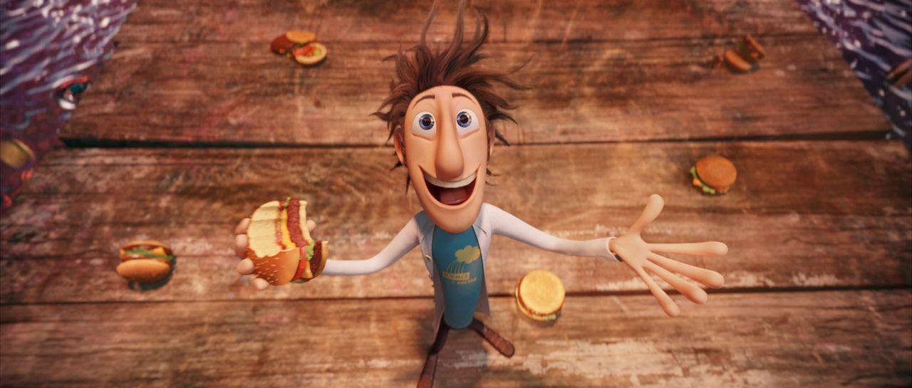 Der leidenschaftliche Flint Lockwood hat vieles probiert, um etwas Nützliches zu erfinden. Eines Tages muss er feststellen, dass seine letzte Erfin... - Bildquelle: 2009 Sony Pictures Animation Inc. All Rights Reserved.