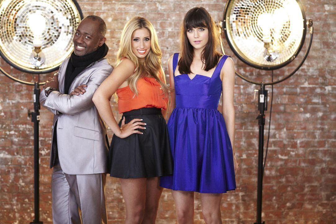 """Die """"Top Dog Model""""-Jury: Addison Witt (l.), Stacey Solomon (M.) und Lilah Parson (r.) - Bildquelle: 12 Yard Productions/ITV"""