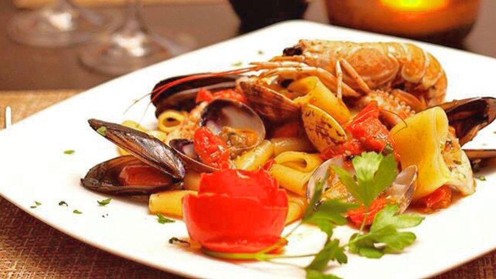 Calamarata mit Meeresfrüchten