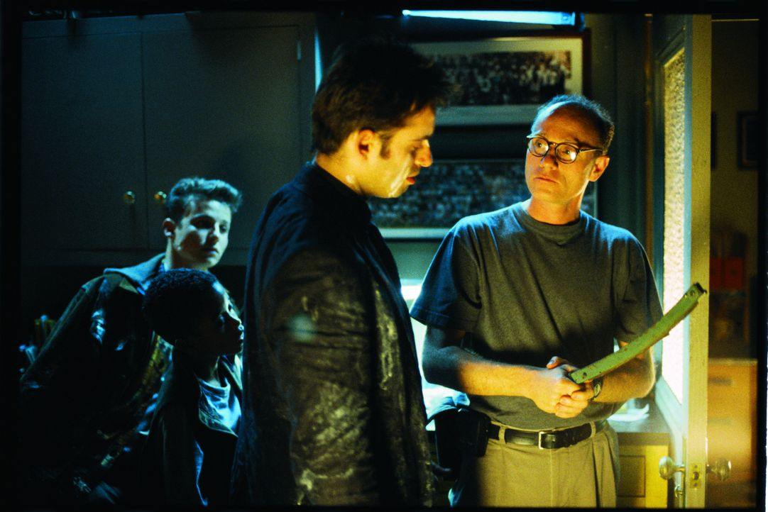 Will Estes, l., Bruno Campos, M. und Regisseur Jean de Segonzac, r. - Bildquelle: Miramax Films