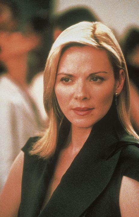 Die Fotoinstallationen von Baird Johnson können Samantha (Kim Cattrall) nur bedingt begeistern, denn nach wie vor bevorzugt sie echte Kerle ... - Bildquelle: Paramount Pictures