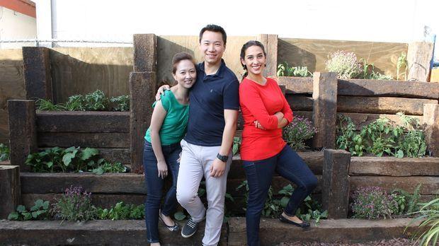 Als Gayle (l.) und Siao (M.) vor zwei Jahren ihr Haus gekauft haben, sahen si...