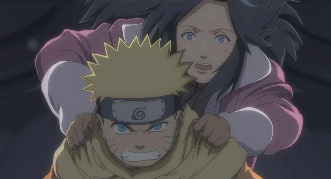 Das Trio Naruto (l.), Sakura und Sasuke soll die berühmte Schauspielerin Yukie (r.) beschützen, doch das ist leichter gesagt als getan, denn sie mac... - Bildquelle: MASASHI KISHIMOTO  NMP 2004