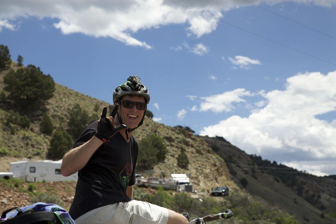 Mountainbiker Steve Novy und seine Freunde nehmen es mit der Wildnis der Rocky Mountains auf.