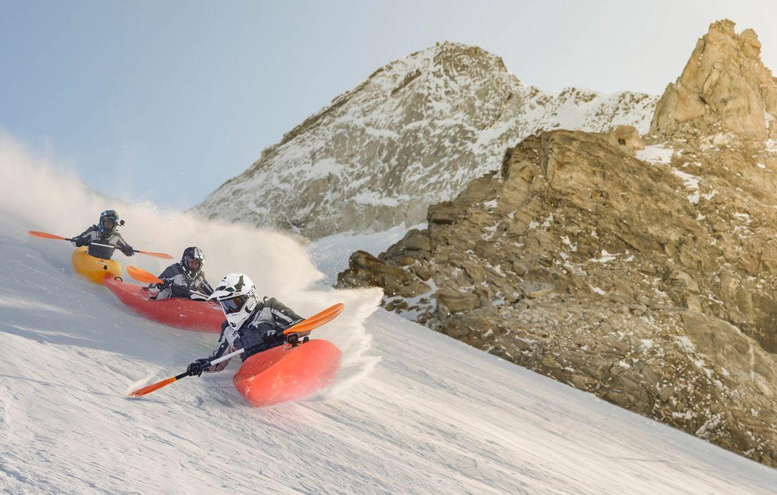 """Adrenalin. Action. Abenteuer. Die ersten """"ProSieben Wintergames"""" - live aus in St. Anton am Arlberg. Auf den Pisten der österreichischen Alpen messe... - Bildquelle: Benedikt Müller ProSieben/Benedikt Müller"""