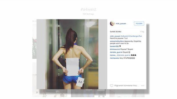 Die neueste irre Body-Challenge auf Instagram: #A4Waist