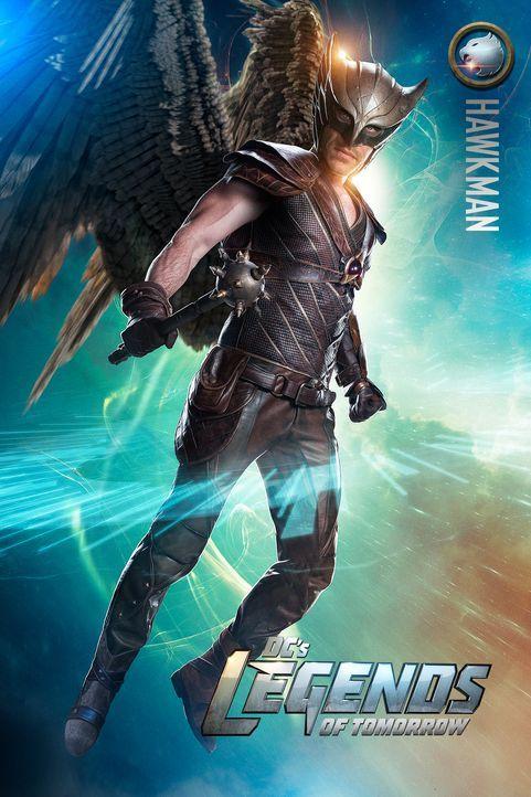 Carter Hall alias Hawkman (Falk Hentschel) muss nun seiner Bestimmung gerecht werden und dem Time Master, sowie dem Team außergewöhnlicher Menschen... - Bildquelle: 2015 Warner Bros.