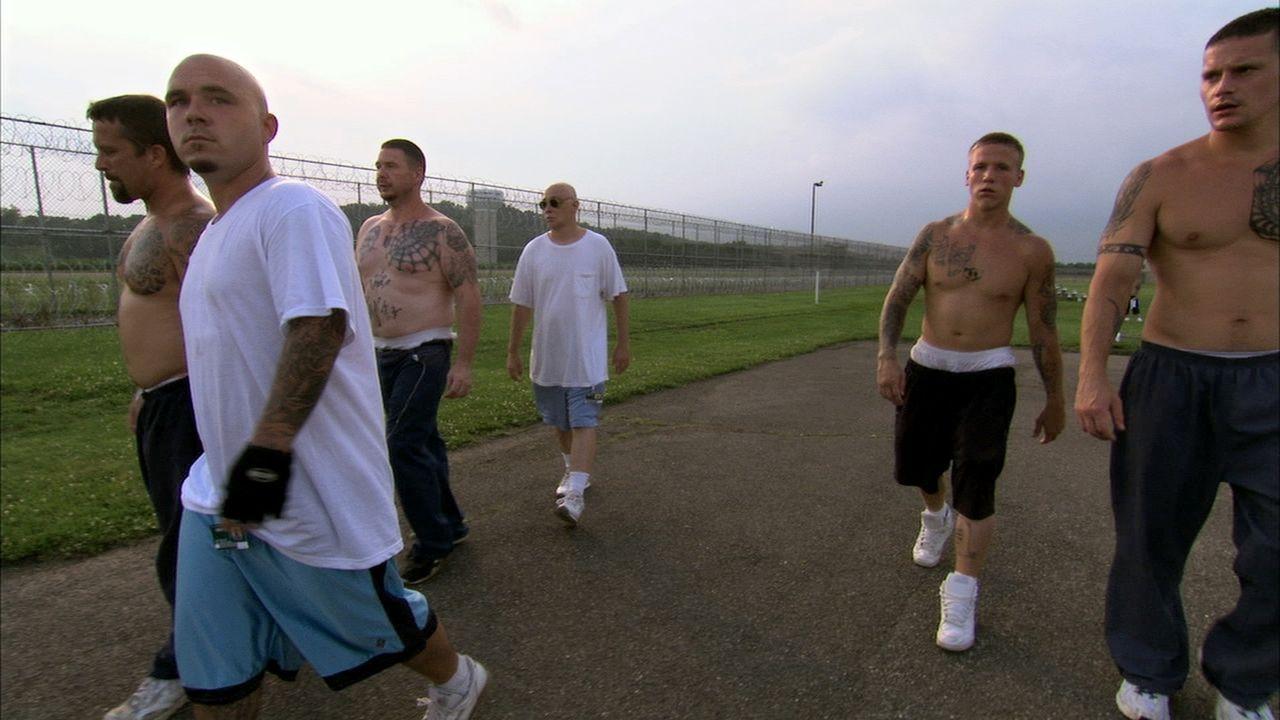 "William ""Bulldog"" Sams (2.v.l.) und seine Gang ""Aryan Brotherhood"" ... - Bildquelle: Marcus Burnett 2010 NGC Network US, LLC All Rights Reserved"