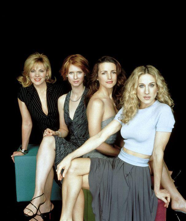 (4. Staffel) - (v.l.n.r.) Samantha (Kim Cattrall), Miranda (Cynthia Nixon), Charlotte (Kristin Davis) und Carrie (Sarah Jessica Parker) wissen, dass... - Bildquelle: Paramount Pictures