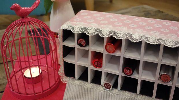 diy aus handmade make up aufbewahrung. Black Bedroom Furniture Sets. Home Design Ideas