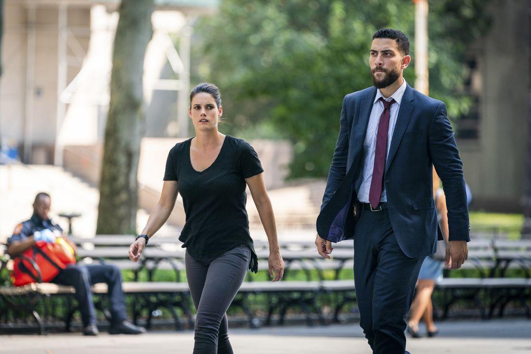 (v.l.n.r.) Maggie Bell (Missy Peregrym); Omar Adom Zidan (Zeeko Zaki) - Bildquelle: Michael Parmelee 2018 CBS Broadcasting, Inc. All Rights Reserved/Michael Parmelee