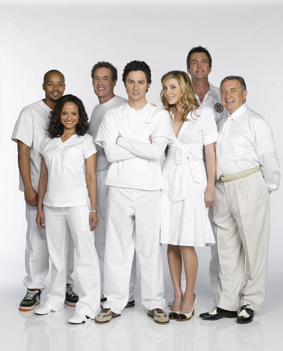 (6. Staffel) - Es läuft nicht immer alles nach Plan: (v.l.n.r.) Turk (Donald Faison), Carla Espinosa (Judy Reyes), Dr. Phil Cox (John C. McGingley),... - Bildquelle: Touchstone Television