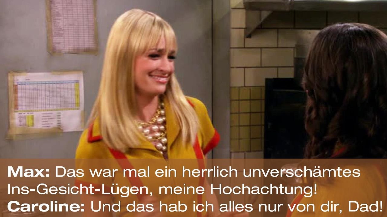 2-broke-girls-zitat-quote-staffel2-episode9-boss-caroline-luegen-warnerpng 1600 x 900 - Bildquelle: Warner Brothers