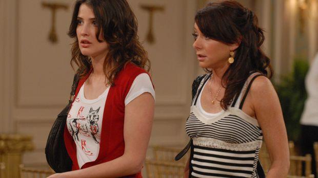 Kurz vor der Hochzeit häufen sich die Probleme und Lily (Alyson Hannigan, r.)...