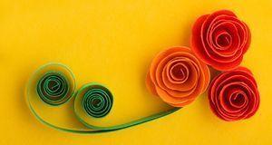 Rosen sind zwar keine typischen Osterblumen, basteln können Sie die aber trot...