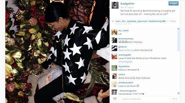Rihanna: Weihnachten zwischen den Schenkeln - Bildquelle: instagram.com/badgalriri