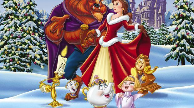 Feiern Weihnachten: (v.l.n.r.) das Biest, der gescheite Lumiere, der kleine T...