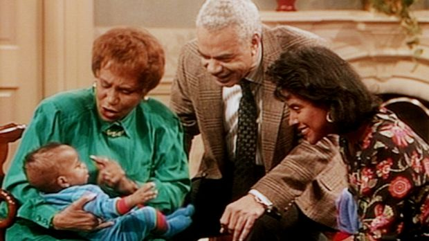 Anna (Clarice Taylor, l.), Russell (Earle Hyman, M.) und Clair (Phylicia Rash...