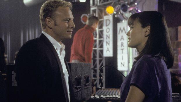 Steve (Ian Ziering, l.) hat eine Entscheidung getroffen, aber wie wird Janet...