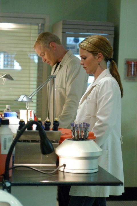 Versuchen einen außergewöhnlichen medizinischen Fall zu lösen: Dr. Natalie Durant (Kelli Williams, l.) und Dr. Stephen Connor (Neal McDonough, r.... - Bildquelle: CBS Television