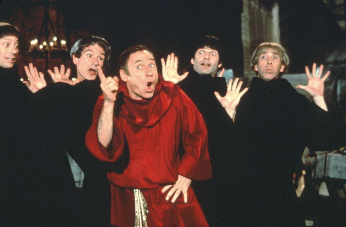 Großinquisator Torquemada (Mel Brooks, M.) erwartet von seinen Mönchen, dass sie vollen Einsatz bei der Folterung ihrer Opfer bringen ... - Bildquelle: Brooksfilms Ltd.
