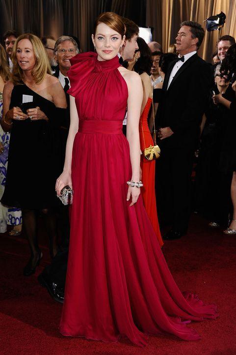 Emma Stone bei den Oscars 2012 - Bildquelle: AFP